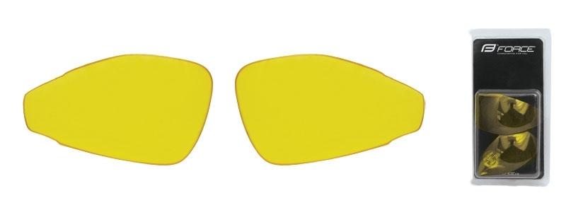 FORCE skla náhradní PRO pár, žlutá