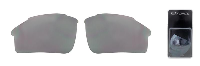 FORCE skla náhradní SPORT pár, černá laser