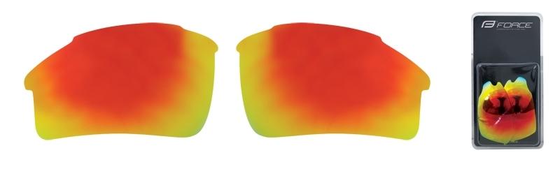 FORCE skla náhradní SPORT pár, červená laser