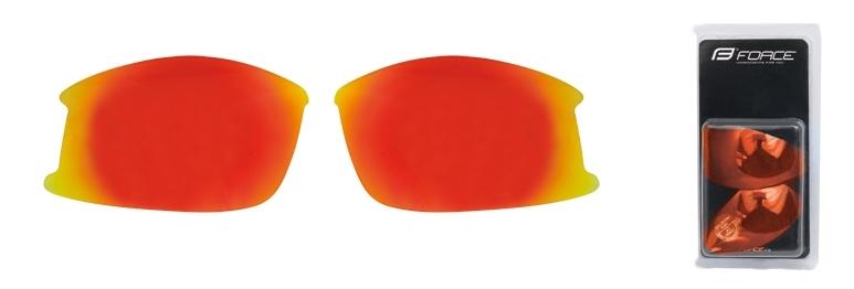 FORCE skla náhradní ULTRA pár, červená laser