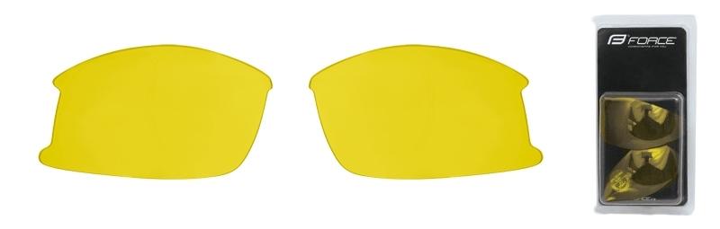 FORCE skla náhradní ULTRA pár, žlutá