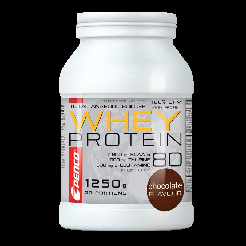 PENCO Proteinový nápoj WHEY PROTEIN 80 Čokoláda, 1250 g