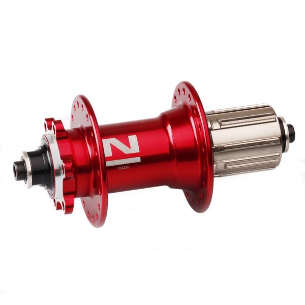 Náboj Novatec D042SB, zadní, 32-d, červený (N-logo)