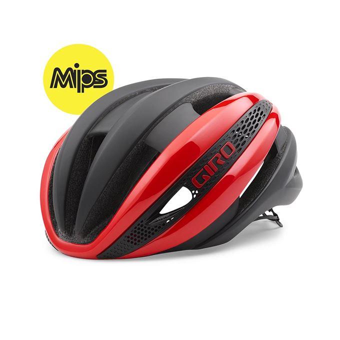 Přilba GIRO Synthe MIPS-bright red/mat black-L