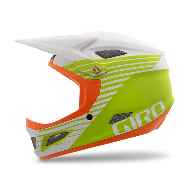 Přilba GIRO Cipher-mat white/lime/flame-M