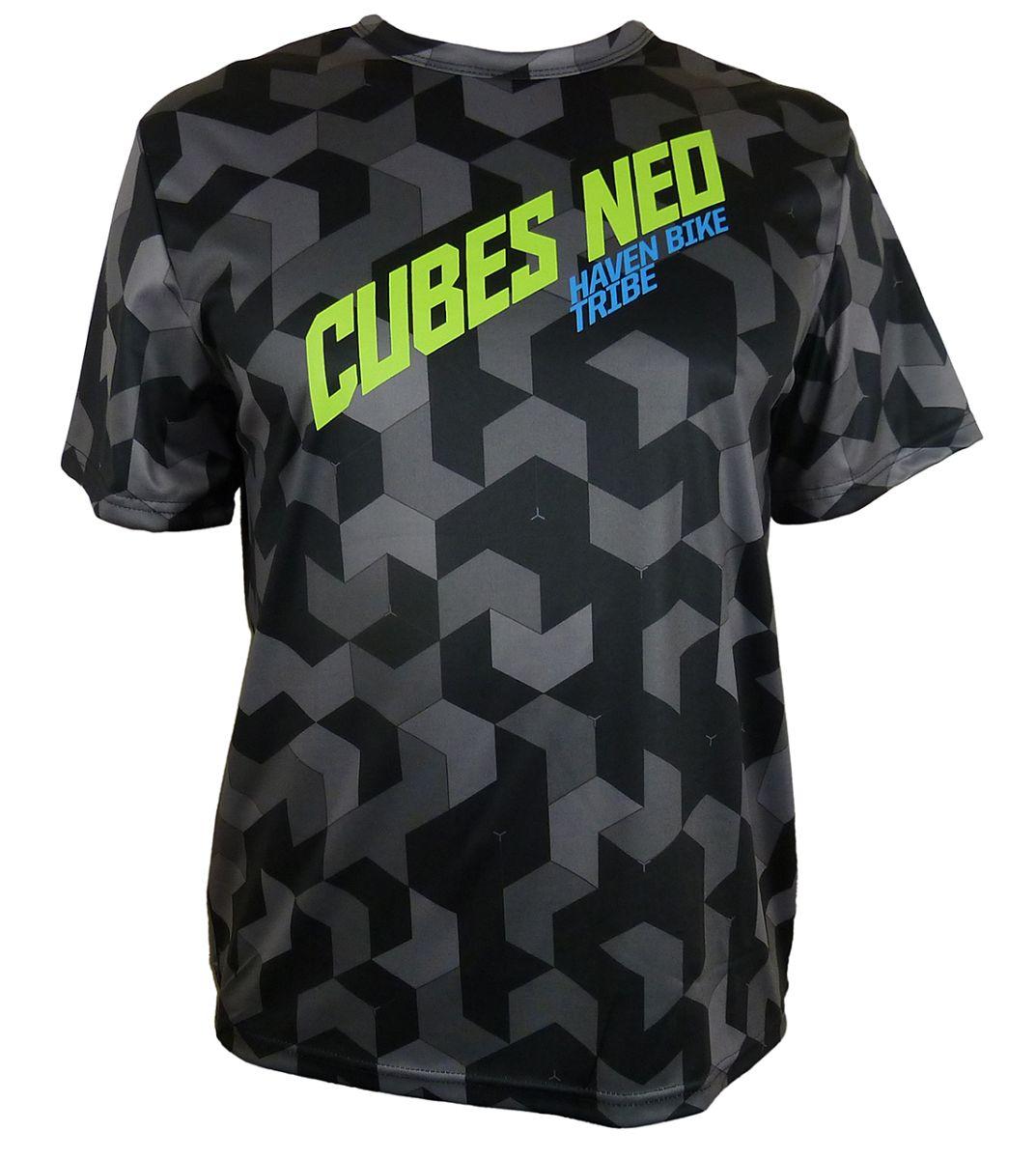Volný dres HAVEN Cubes NEO Black/Green vel. 3XL