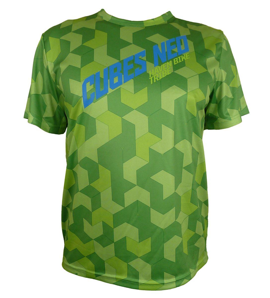 Volný dres HAVEN Cubes NEO Green/Black vel. 3XL