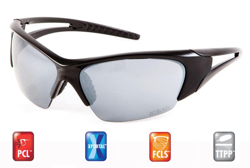 Sportovní brýle JETBLACK Flight - Black / Full Xportal Smoke