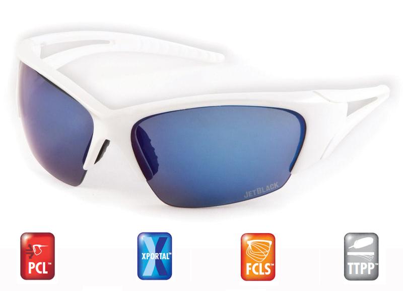 Sportovní brýle JETBLACK Flight - White / Full Xportal Blue