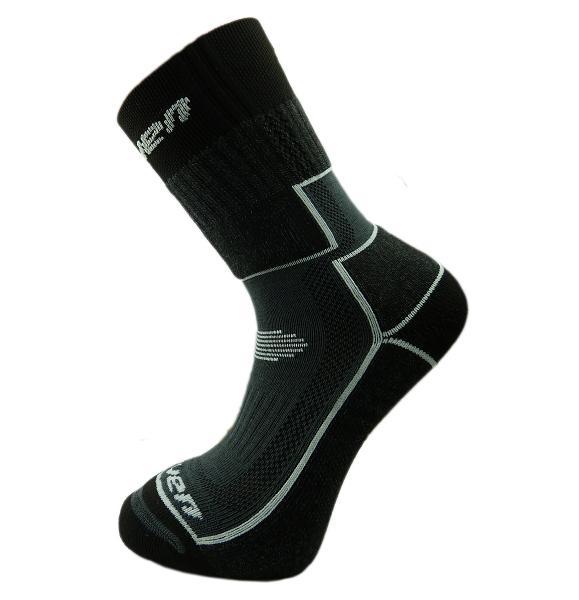 Dětské ponožky HAVEN TREKKING Silver black/green a black/grey 2 páry vel. 34-36