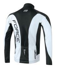 bunda/dres FORCE dlouhý rukáv X68, černo-bílá