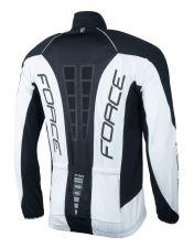bunda/dres FORCE dlouhý rukáv X68 PRO,černo-bílá