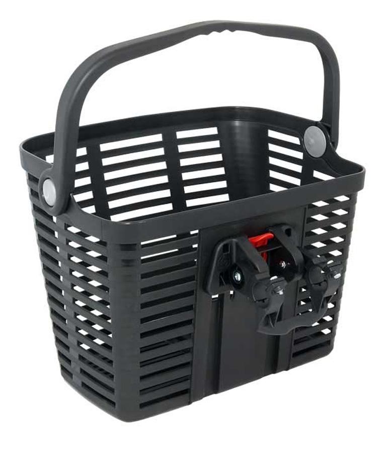 BELLELLI košík plastový na řídítka KLICK FIX, černý