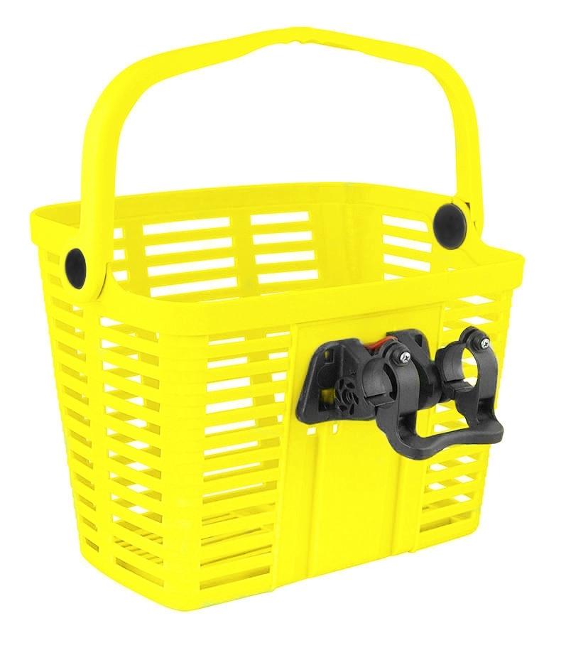 BELLELLI košík plastový na řídítka KLICK FIX, žlutý