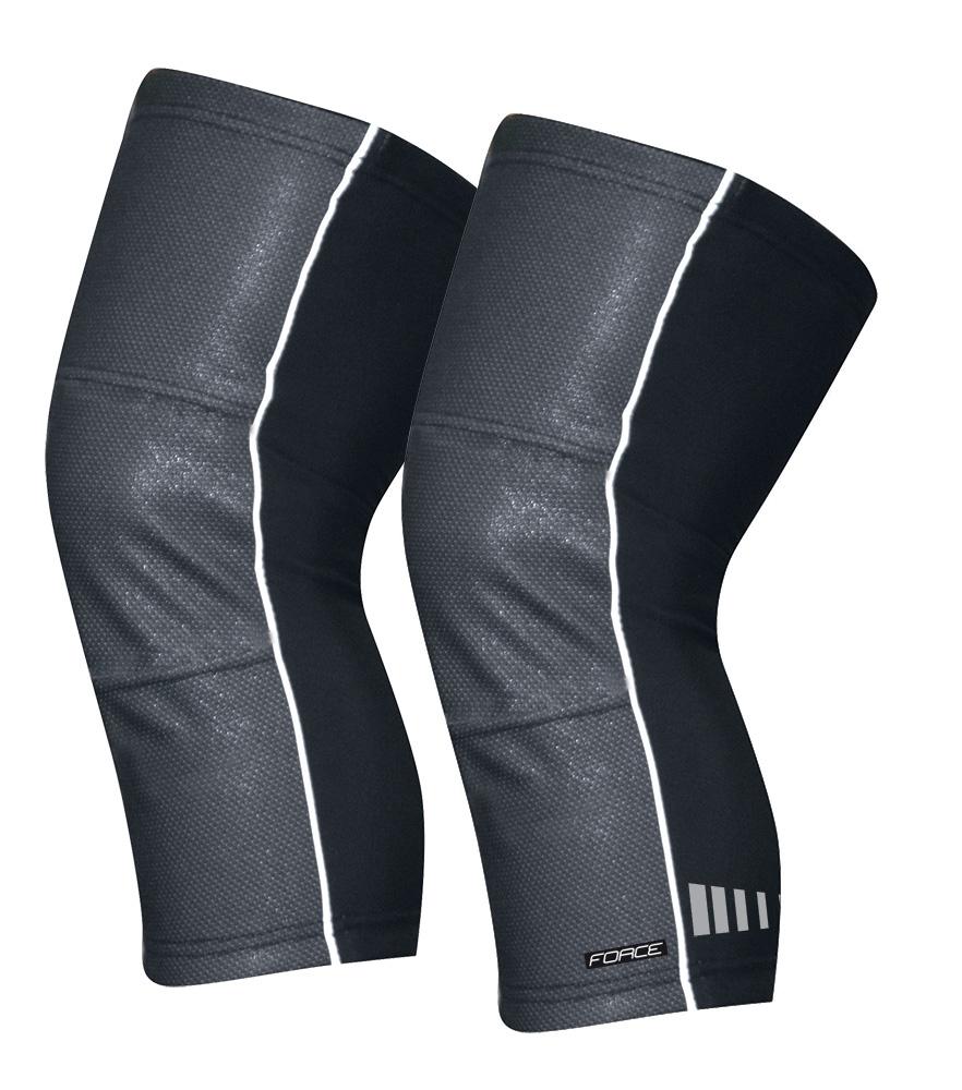 návleky na kolena FORCE WIND-X, černé L