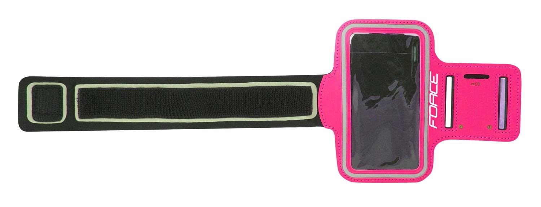 obal FORCE na mobil na ruku při sportování, růžový