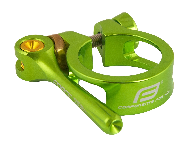 objímka sedlovky FORCE s RÚ 31,8mm Al, zelená