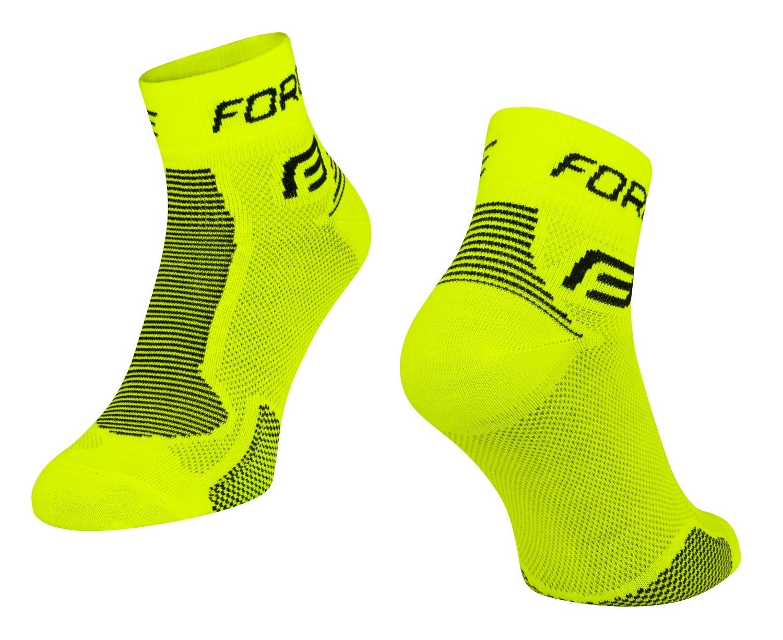 ponožky FORCE 1, fluo-černé S - M