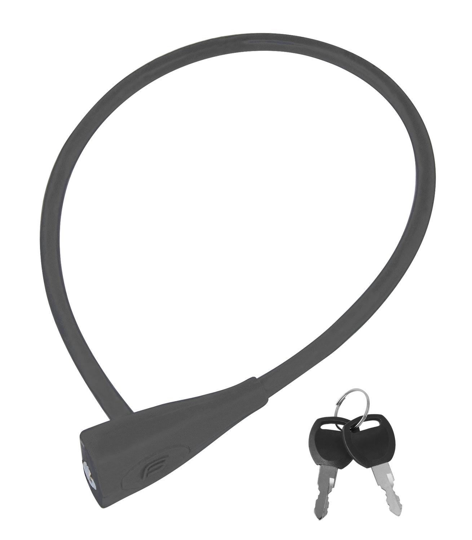 FORCE zámek F klíčkový silikon.bez držáku 65cm/10mm,šedý